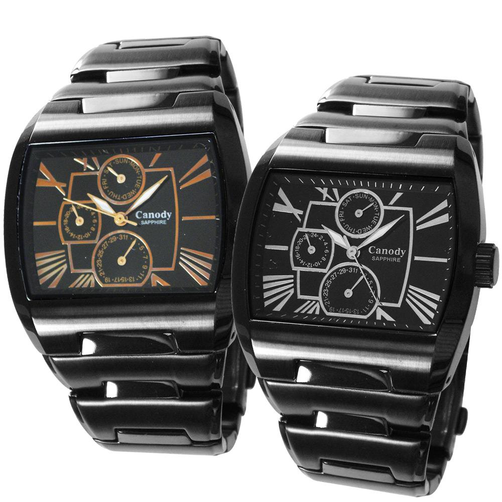 Canody 羅馬時尚三眼日期手錶(雙11每只破盤價$1500)