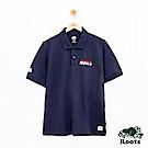 男裝-Roots 左胸刺繡短袖POLO衫-藍