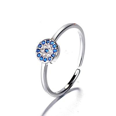 iSFairytale伊飾童話 土耳其之眼 藍水鑽銅電鍍開口戒指