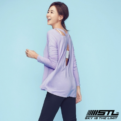STL Hole Back Long Sleeve 韓國運動機能美背長袖上衣 長本質交叉紫丁香