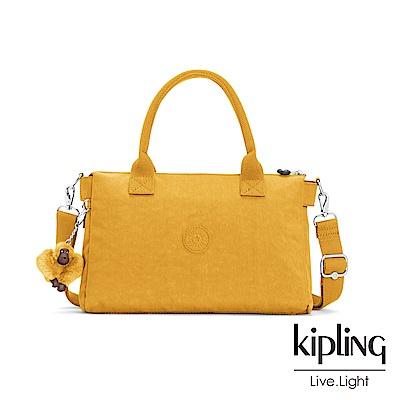Kipling 亮眼芥末黃手提側背公事包-IRISA