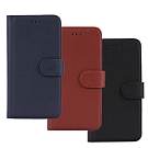 亞古奇 Samsung Note 5 柔軟羊紋二合一可分離式兩用皮套-藍棕黑