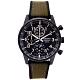 SEIKO 率性時尚三眼計時橡膠與帆布帶材質錶帶手錶(SSB373P1)-黑色面/42mm product thumbnail 1