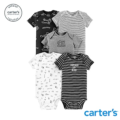 Carter's 個性小車5件組包屁衣