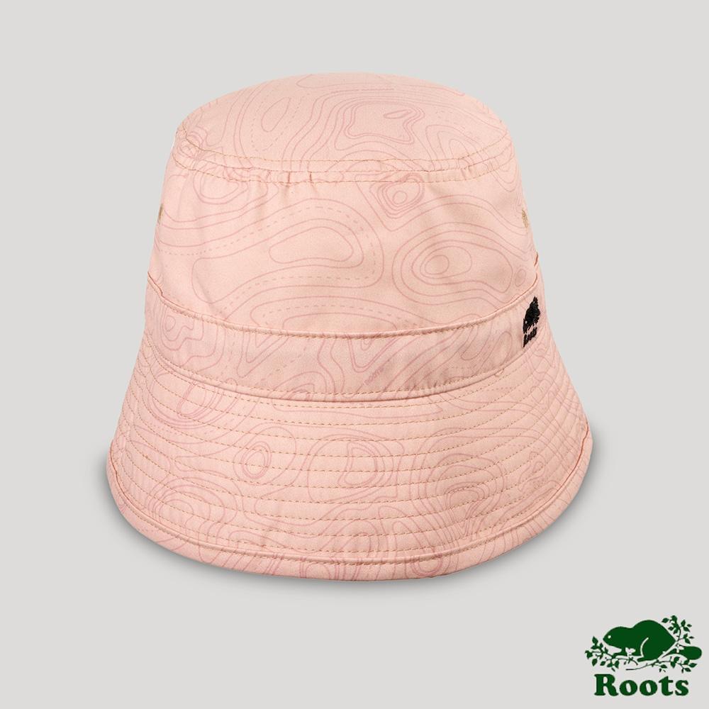 Roots配件-開拓者系列 等高線元素漁夫帽-桃粉色