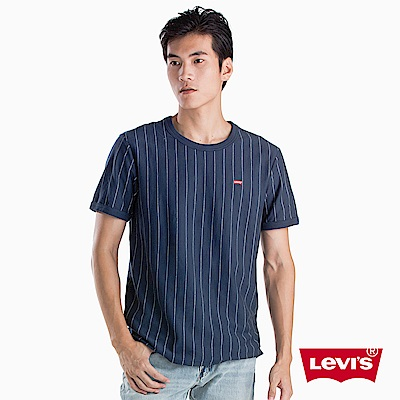 Levis 男款 短袖T恤 細條紋 刺繡Logo 布章