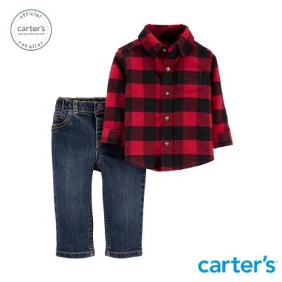 Carter s台灣總代理 美式格紋襯衫2件組套裝