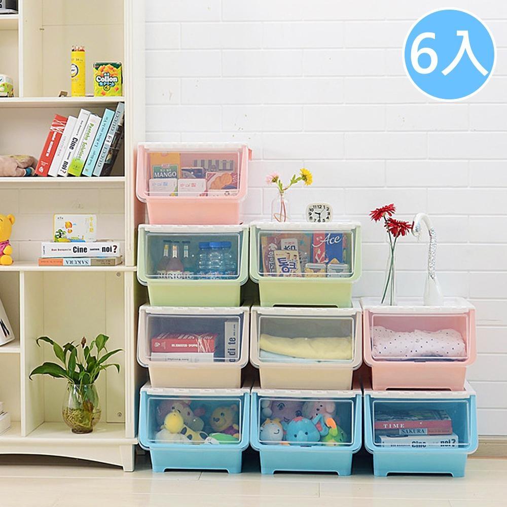 掀蓋式收納箱 收納櫃(6入)【Vencedor】