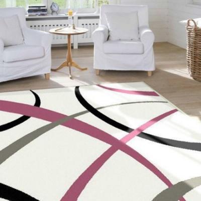 范登伯格 - 亞曼 進口仿羊毛地毯 - 曲線 (133 x 190cm)