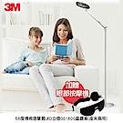 3M 58度博視燈單臂LED立燈-晶鑽黑 GS1600(加贈SAMPO眼部按摩器)