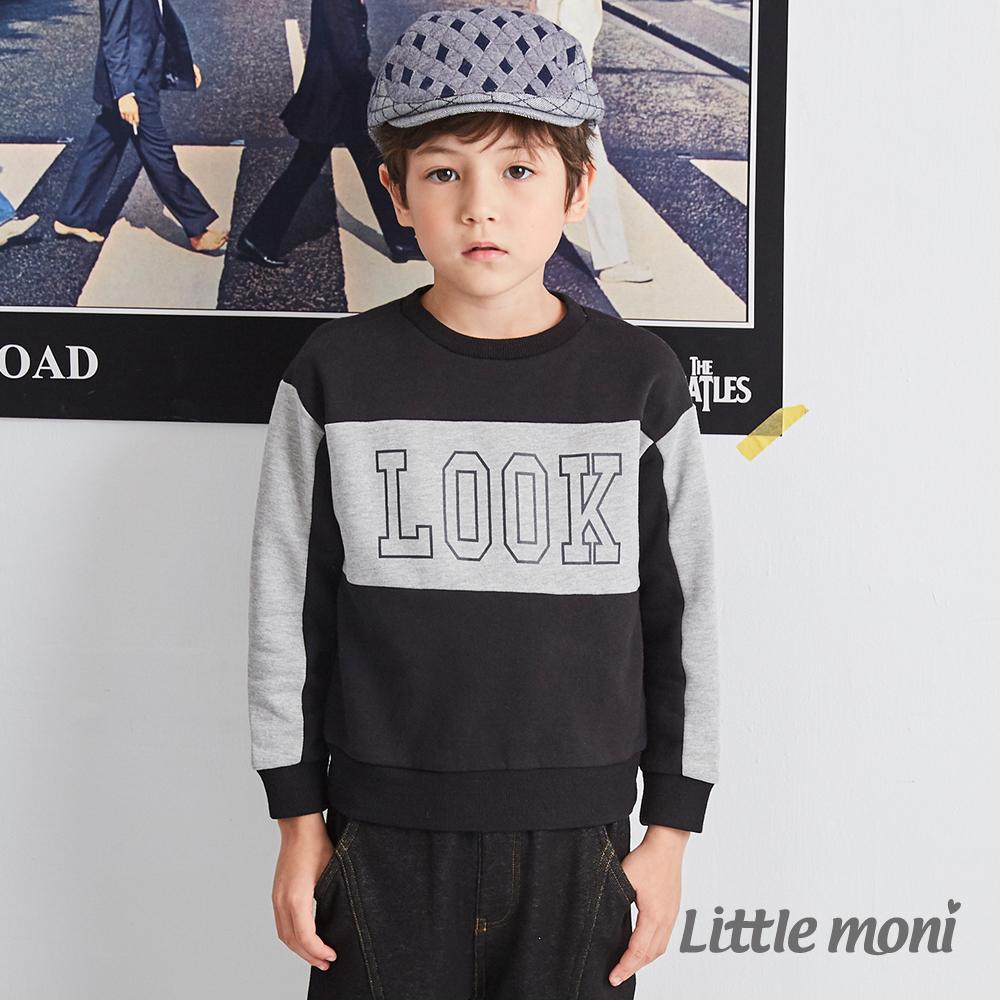 Little moni 圓領LOOK拼接上衣(兩色可選)