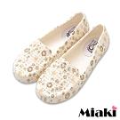 Miaki-防水鞋鏤空印花透氣雨鞋-咖啡