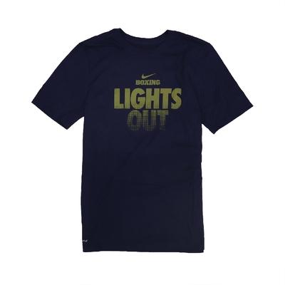 Nike T恤 Boxing Lights Out T 男款 DRI-FIT 吸濕排汗 快乾 圓領 深藍 金 561416419BXL7