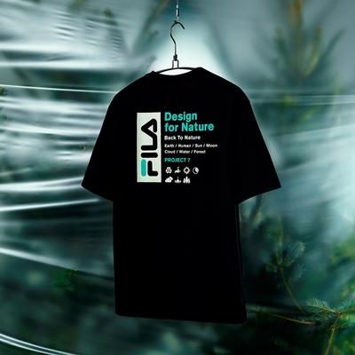 FILA #Back To Nature 短袖圓領T恤-黑色 1TEV-1230-BK