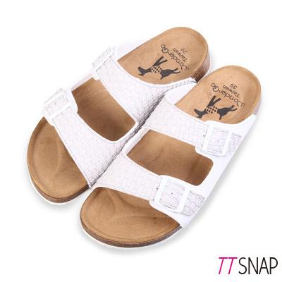 TTSNAP涼拖鞋-MIT編織寬版休閒涼拖鞋 灰