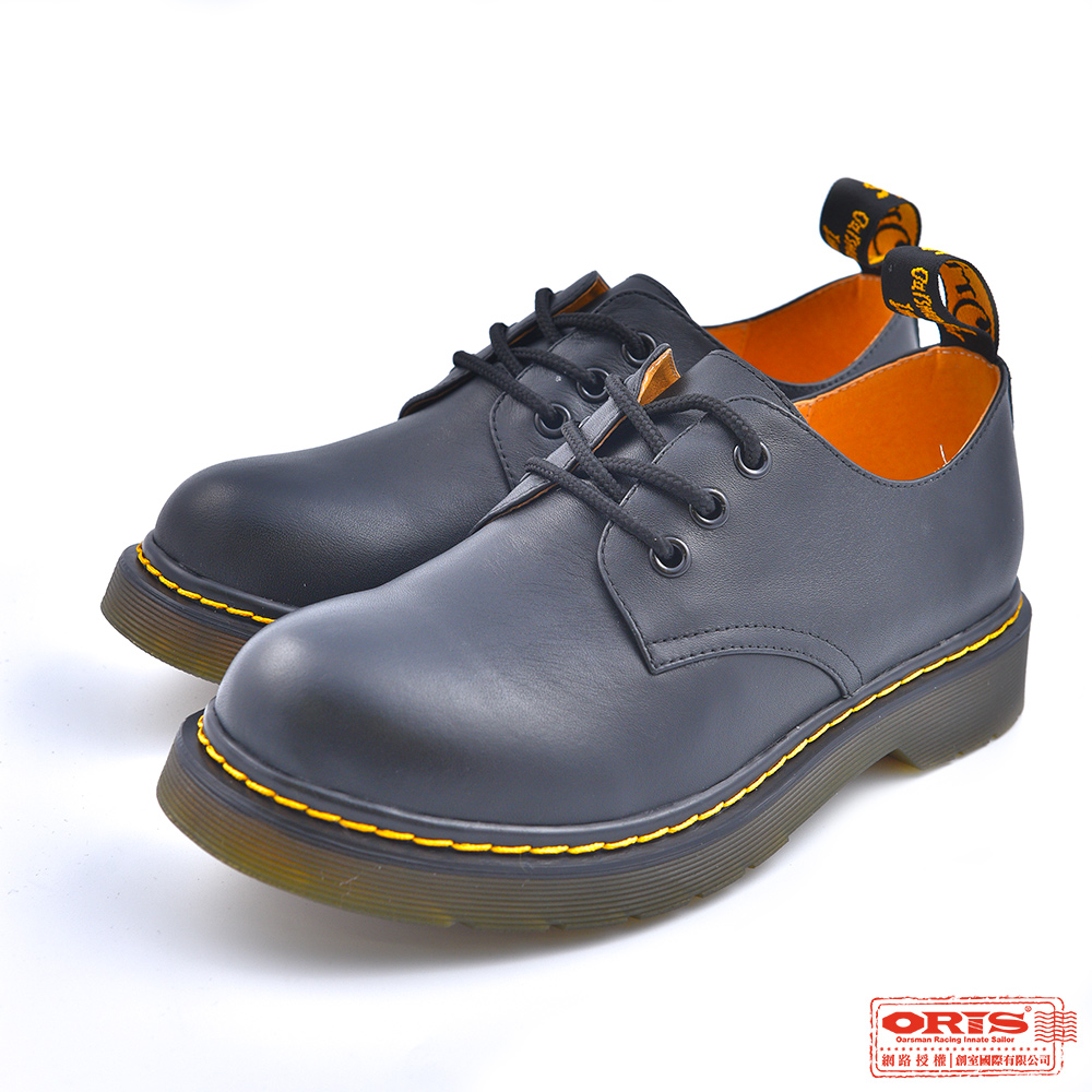 ORIS 女款 低筒圓頭馬丁鞋 黑 S8702N01