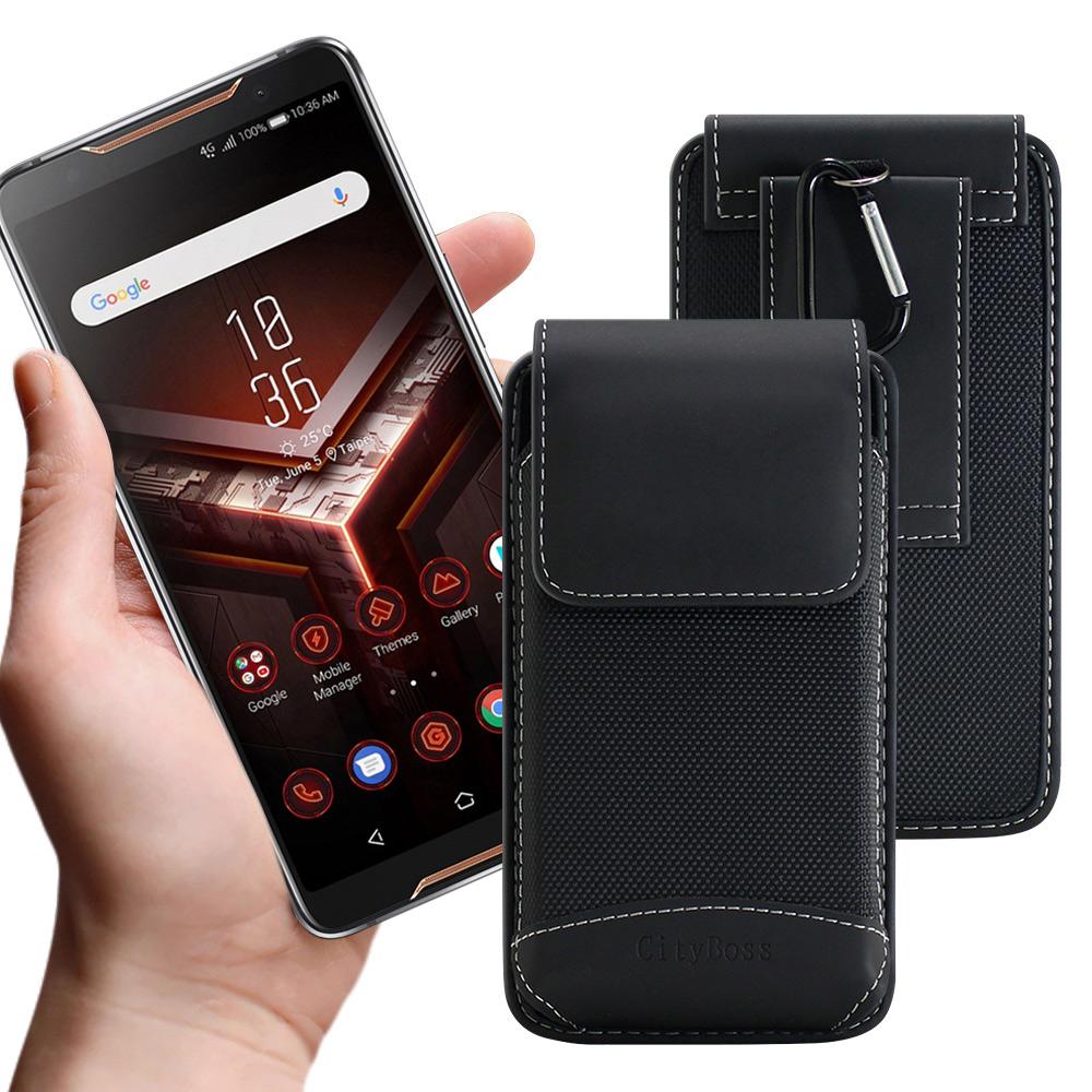 City  品味爵士 5.7-6.3吋手機用腰掛腰包皮套-送扣環