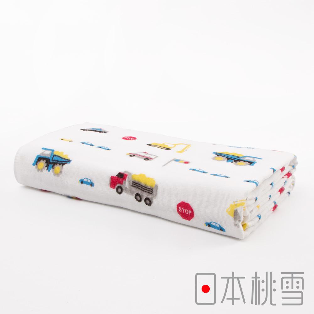 日本桃雪可愛紗布浴巾(小男孩最愛-工程車)