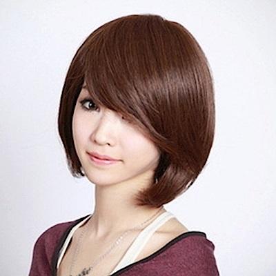 米蘭精品 女假髮整頂短假髮-斜瀏海修臉逼真女美髮用品3色69o69