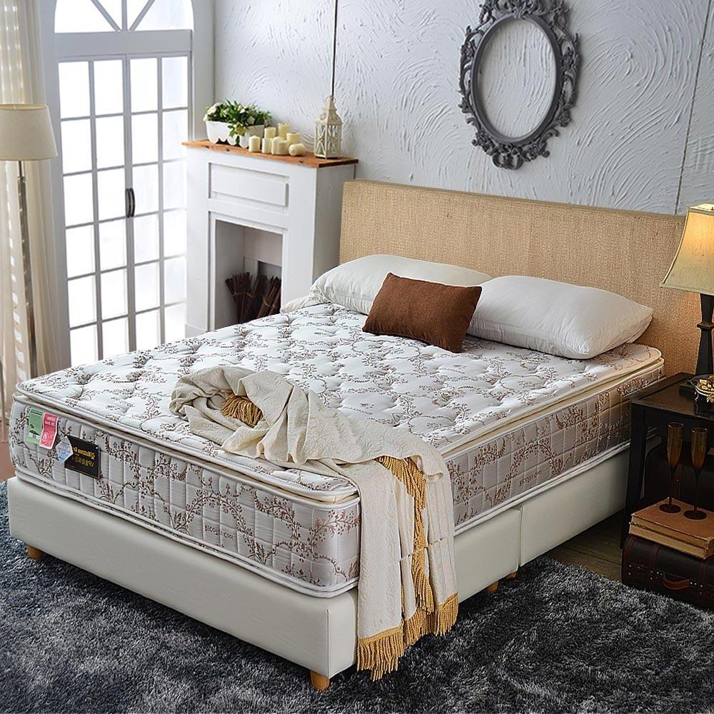 單人3.5尺 真四線-涼感透氣抗菌+護邊-護腰型蜂巢獨立筒床墊-正反可睡