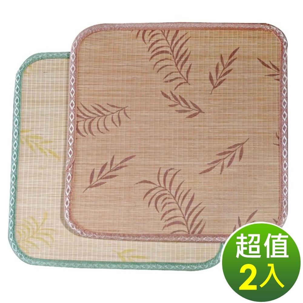 范登伯格 - 艾蒙 天然色織竹坐墊 兩入組 (兩色可選) (50x50cm)