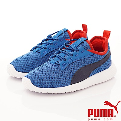 PUMA童鞋 透氣流線運動款 TH64028-11藍(中大童段)