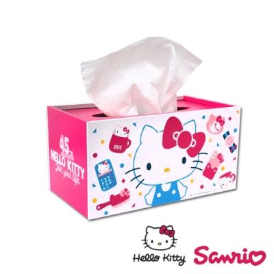 Hello Kitty 凱蒂貓 繽紛玩美 抽拉式 面紙盒/衛生紙盒/桌上收納盒