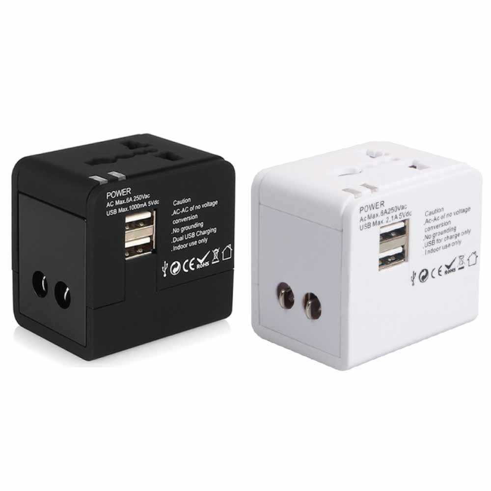 全球通用 萬用轉接頭 雙USB 2.1A  插座-急速配