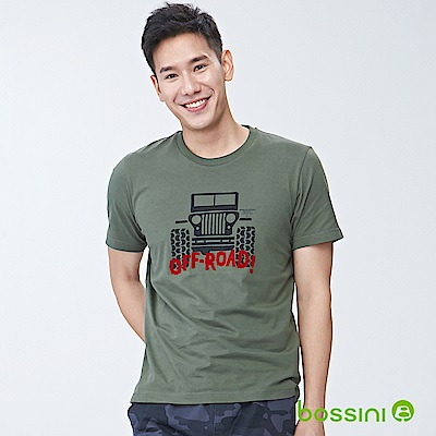 bossini男裝-印花短袖T恤11橄欖灰
