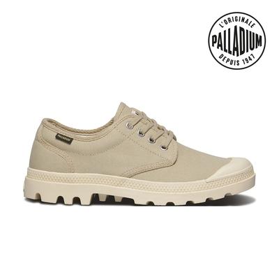 Palladium Pampa OX ORIGINALE帆布鞋-女-卡其
