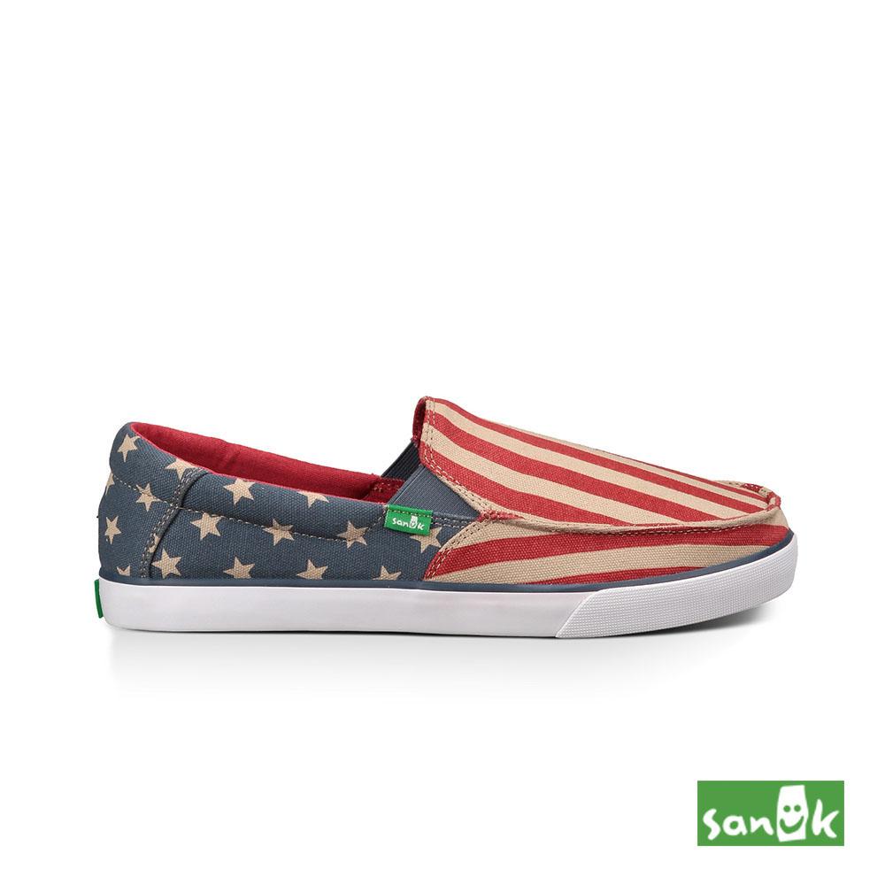 SANUK 美國國旗休閒鞋-男款(紅色)