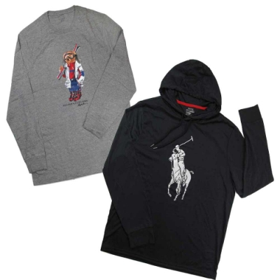 [時時樂]Polo Ralph Lauren 初秋款薄長袖帽/棉T(多款)