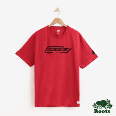 ROOTS 男裝- 冰上曲棍球短袖T恤-白