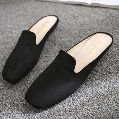 KEITH-WILL時尚鞋館 美搭款素色休閒穆勒鞋-黑