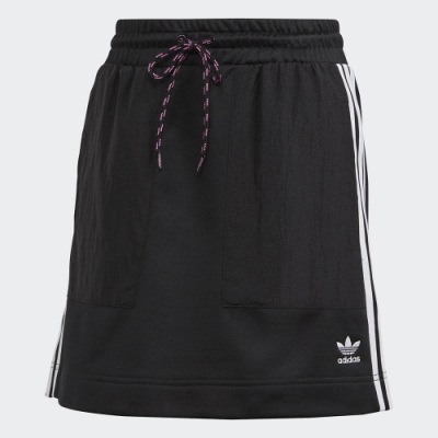 adidas 短裙 休閒裙 A字裙 女款 黑 FL4101 Bellista