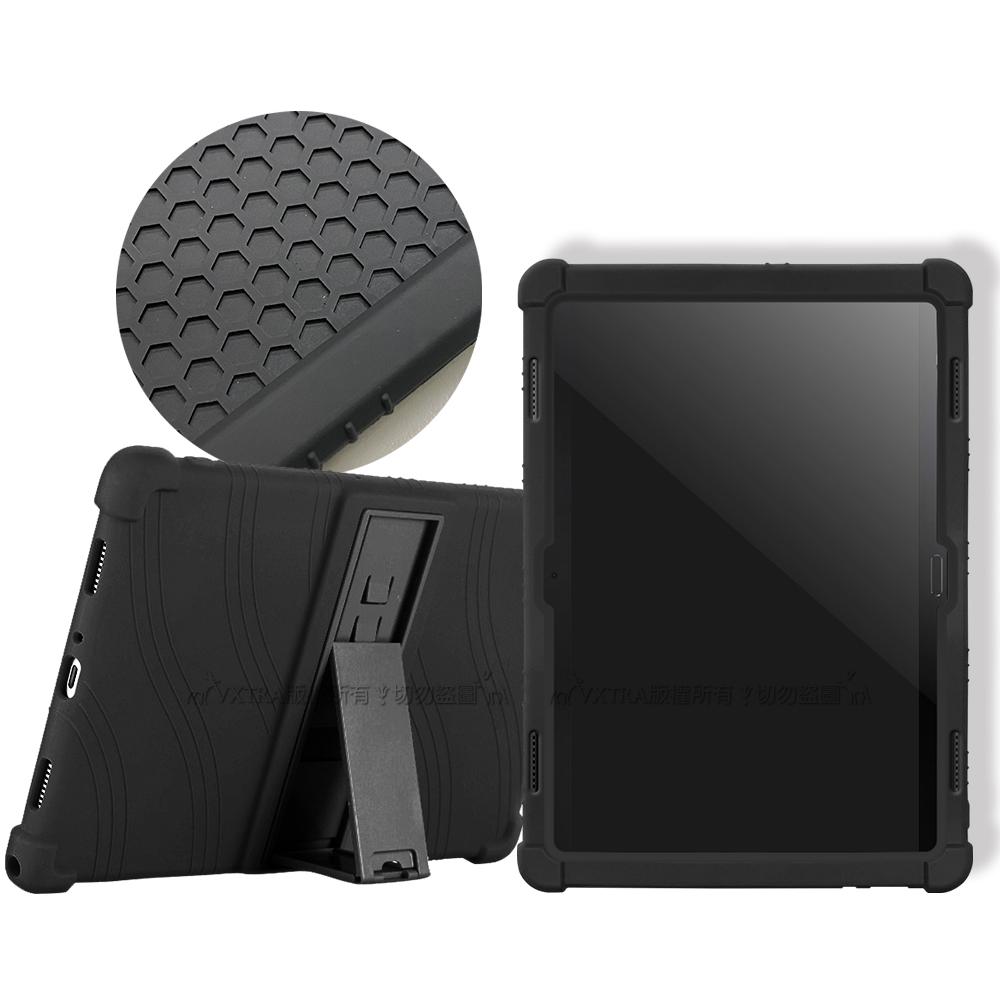 聯想 Tab M10/P10 10.1吋 全包覆矽膠支架軟套(黑)TB-X505F/TB-X705F
