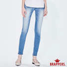 BRAPPERS 女款 新美腳Royal系列-中低腰彈性割破直筒褲-淺藍
