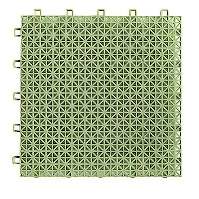 半島良品 加大鏤空隔水防滑浴室墊10入(26x26cm)-淡綠