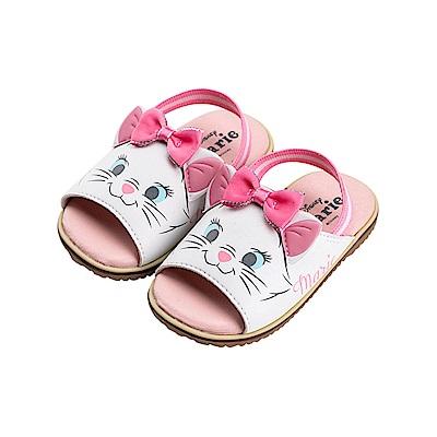 迪士尼童鞋 瑪麗貓 立體造型寶寶涼鞋-白