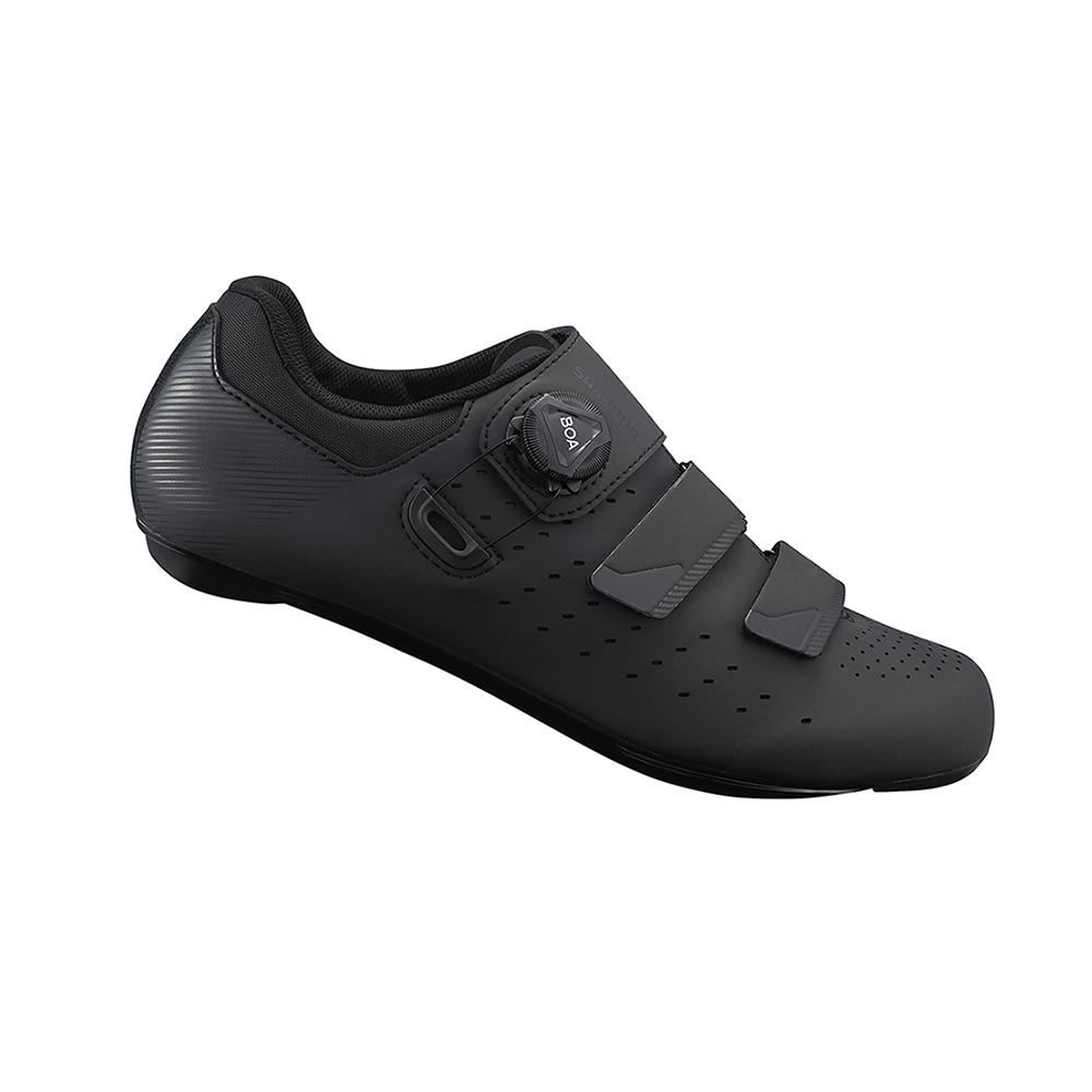 【SHIMANO】RP400 男性公路車性能型車鞋 寬楦 黑色