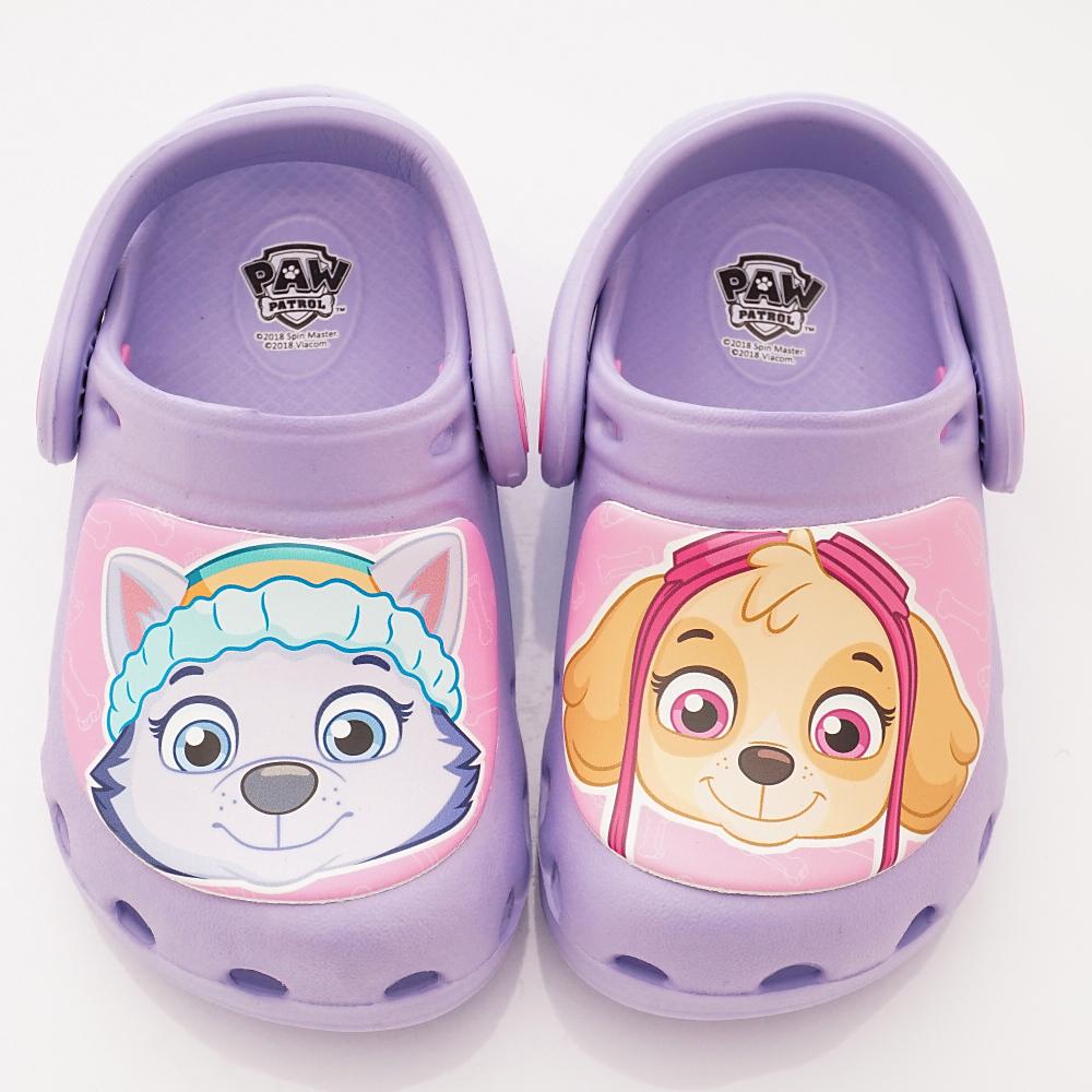 汪汪隊立大功 超輕護趾涼鞋款 DNI3901紫(中小童段)