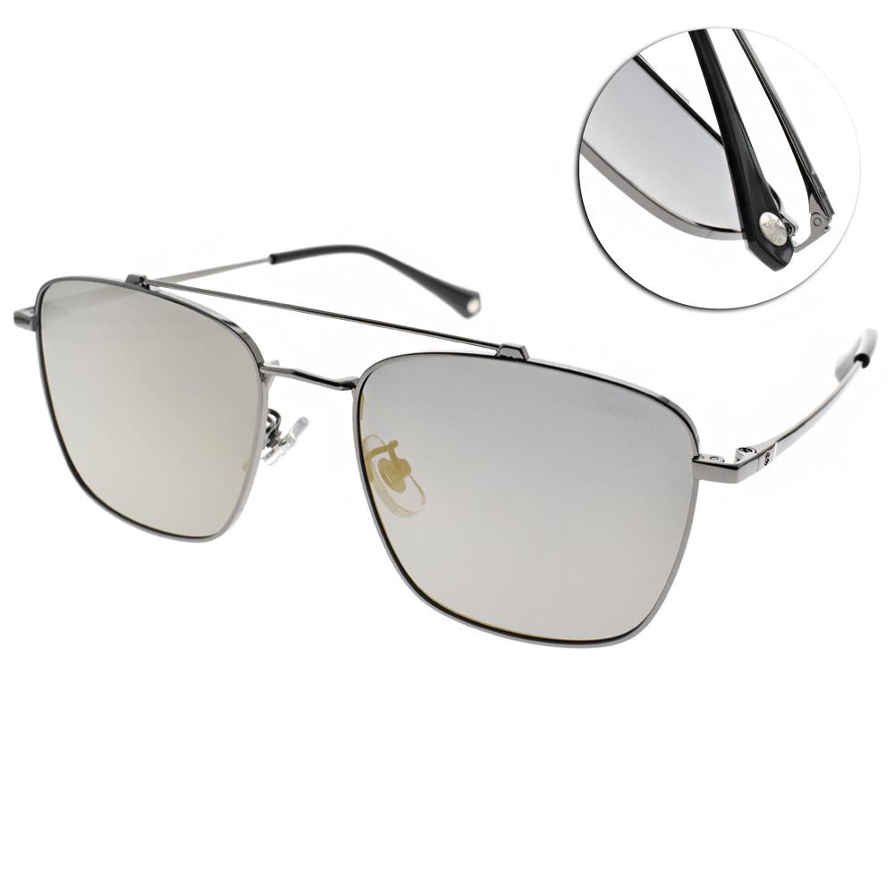 SEROVA偏光太陽眼鏡 流行百搭款/槍-淡水銀 #SS9033 C7