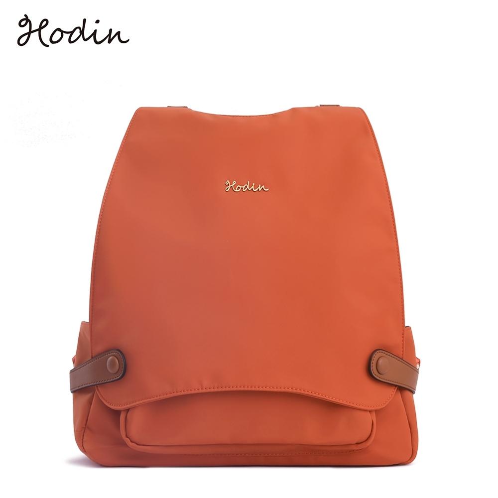 【Hodin】City掀蓋雙層兩用後背包(橘色151034OG)