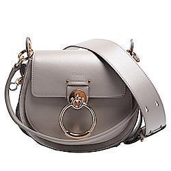 CHLOE 經典TESS系列小牛皮扣環造型手提/斜背包(小-灰色)