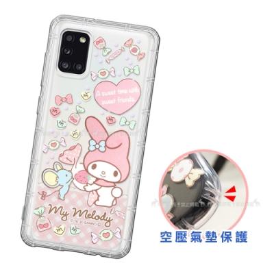 三麗鷗授權 My Melody美樂蒂 三星 Samsung Galaxy A31 愛心空壓手機殼(草莓)