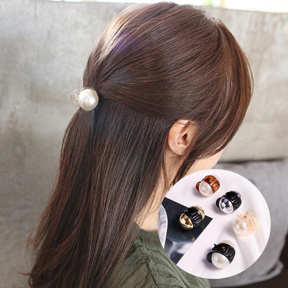 梨花HaNA 韓國簡約單顆珍珠公主頭抓夾