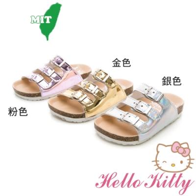 (雙11)Hello Kitty童鞋 輕便減壓拖鞋-銀.粉.金