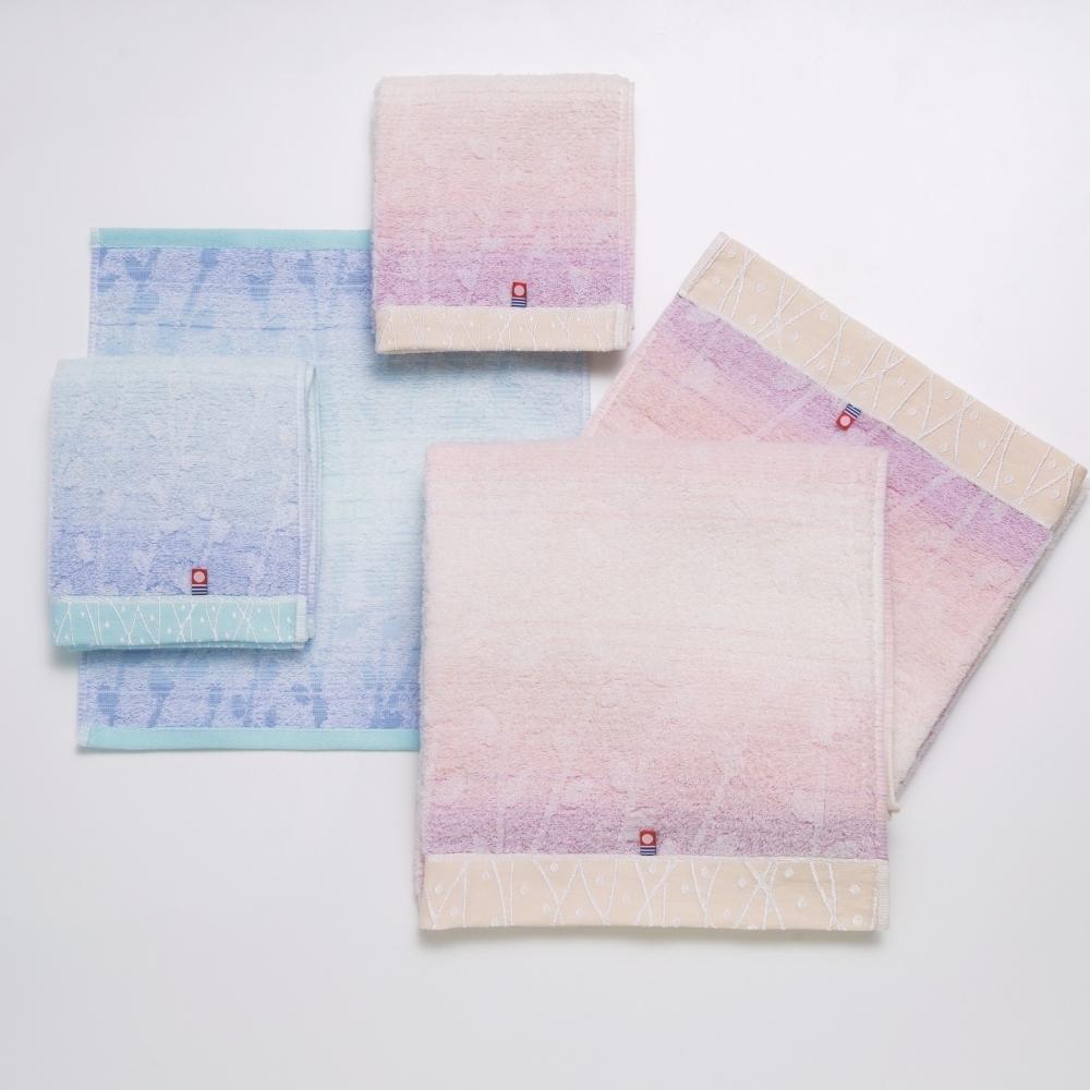 [買一送一]日本派迪 今治100%純綿漸層染色毛巾(藍+粉紫)