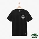 男裝ROOTS 動物系列短袖T恤-黑色