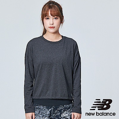 New Balance DRY花紗長袖上衣AWT83101BKH女黑